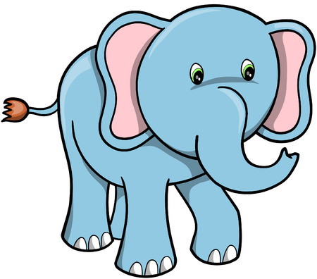 Elephant Vector Illustration Illustration