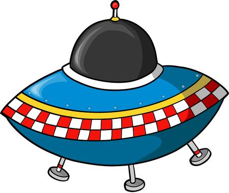 Fling Saucer Vector illustration