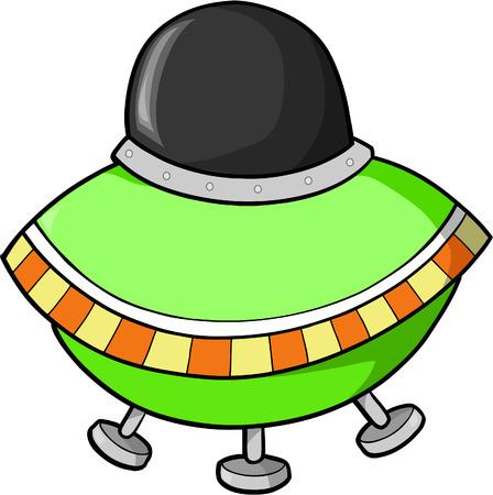disco volante: Volante illustrazione vettoriale