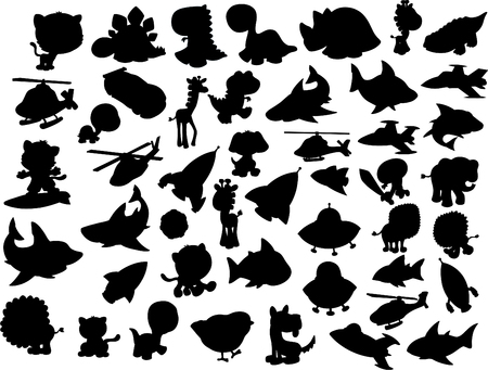 Silhouette Collection Vector Illustration