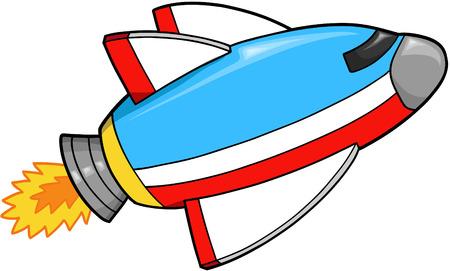 Spaceship Rocket Vector Illustration Vector