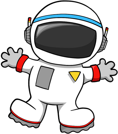 astronaut in space: Astronaut Vector Illustration Illustration