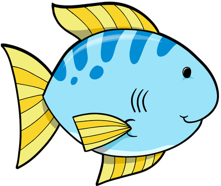 bluefish: Blue Fish Vector Illustration Illustration