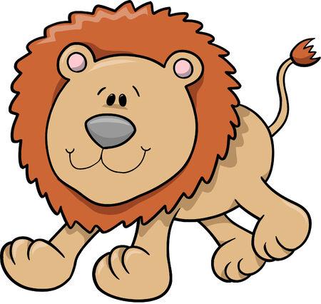 cute: Cute Lion Vector Illustration