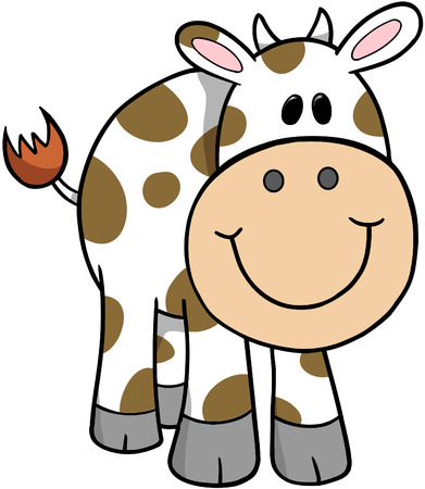 Cute Cow Vector Illustration