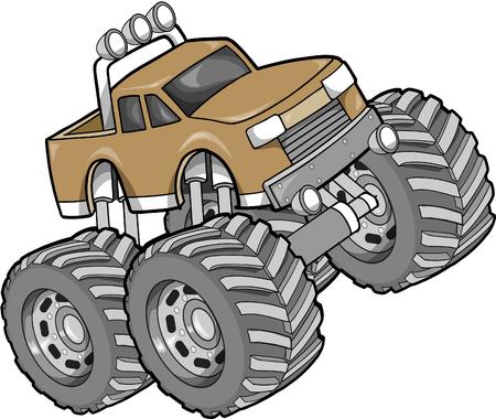 Monster Truck Vector Illustration Reklamní fotografie - 2230404