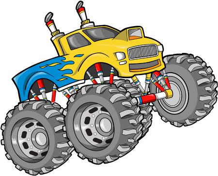 Monster Truck Vector Illustration Reklamní fotografie - 2230406