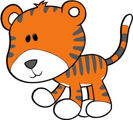plains: Tiger Vector Illustration
