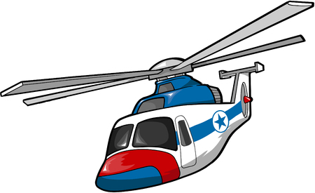 Rescue Helicopter Vector Illustration Illustration