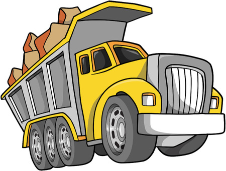 Dump Truck Vector Illustration Ilustracja