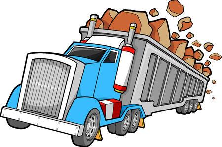 Dump Truck Vector Illustration Çizim