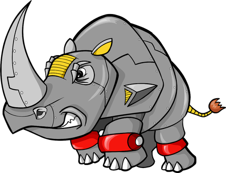 Robot Rhino Vector illustratie Stock Illustratie
