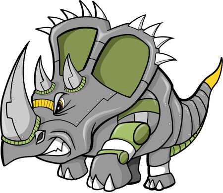robot vector: Robot Dinosaur Vector Illustration