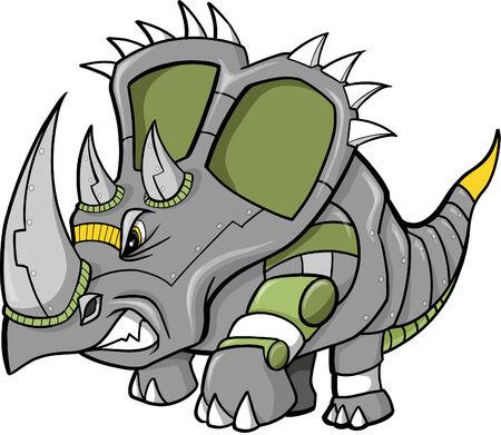 Robot dinosaurio ilustración vectorial