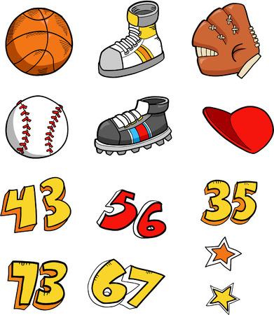 Sport Element Set Vector Illustration Illustration