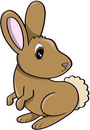 lapin: Rabbit Vector Illustration Illustration