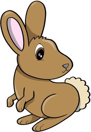 brown: Rabbit Vector Illustration Illustration
