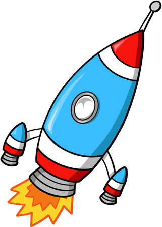 outerspace: Rocket Vector Illustration