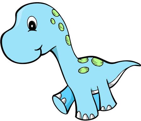 Grappig Dinosaur Vector illustratie