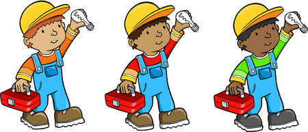 Construction worker Vector Illustration