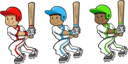 Baseball Player Vector Illustration