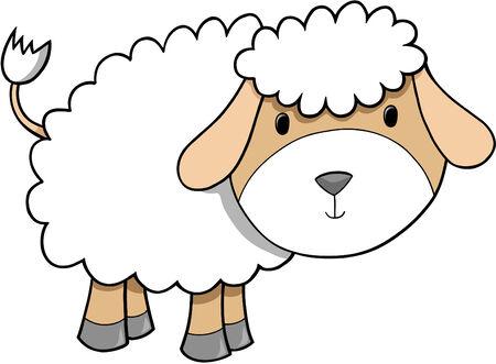lamb: Ovini Agnello Illustrazione Vettoriale