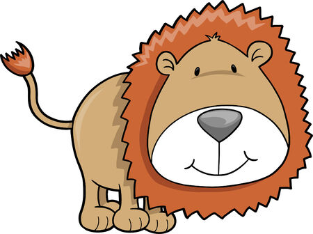 plains: Safari Lion Vector Illustration Illustration