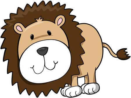 lion drawing: Safari Lion Illustrazione Vettoriale