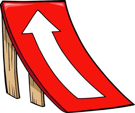 rámpa: Skateboard Ramp Vector Illustration