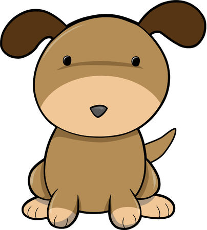 mutt: Cute cucciolo di cane illustrazione vettoriale