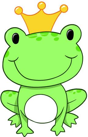 amphibians: Frog Prince Vector Illustration