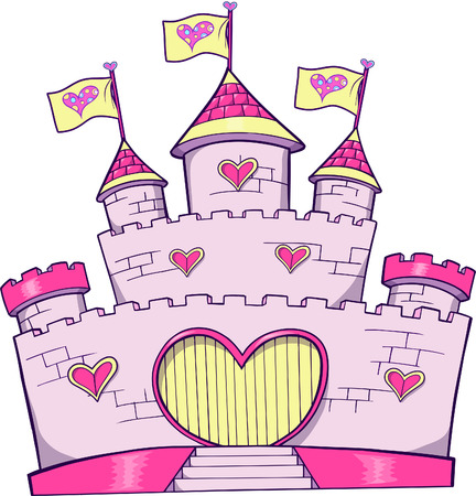 Cute kasteel Vector Illustratie