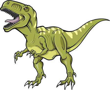 dinosaur: T-rex Dinosaur Vector Illustration