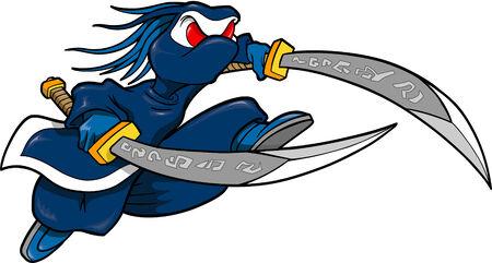 Ninja warrior Vector Illustration Vector