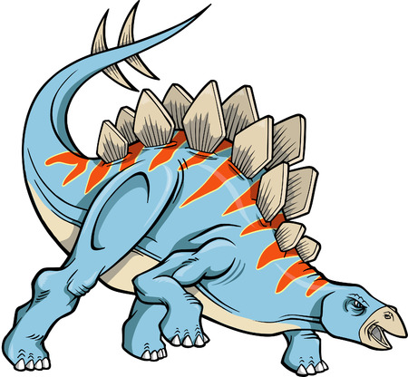 stegosaurus: Stegosaurus Dinosaur Vector Illustration