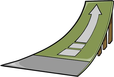 rámpa: Skate Ramp Vector Illustration Illusztráció