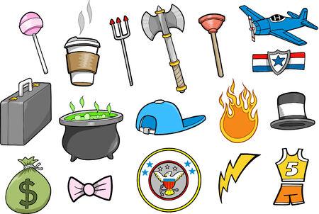 Elements Set Vector Illustration