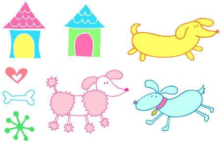 Dog Set Vector Illustration Stock Vector - 2667645