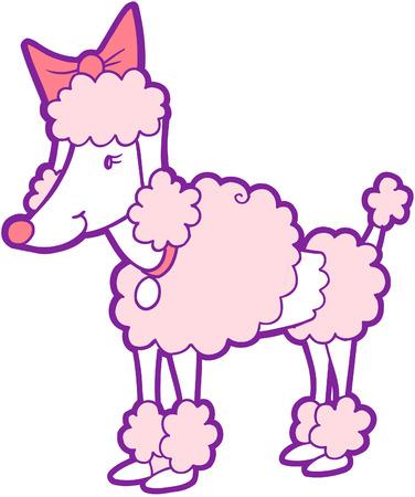 Poedel hond Vector illustratie