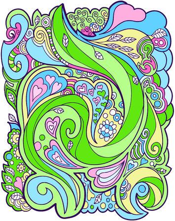 girlie: Heart flower design Vector Illustration