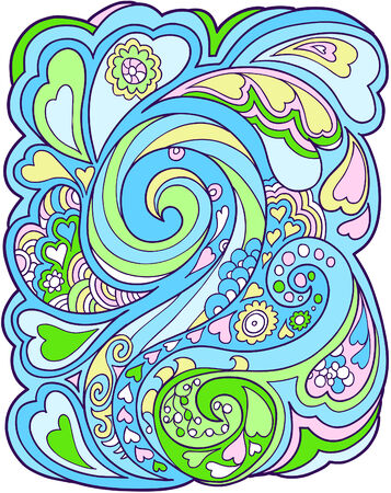 Heart flower design Vector Illustration