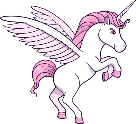 Unicorn Vector Illustration Vector
