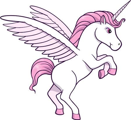 pegasus: Unicorn Vector Illustration