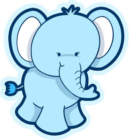 Cute Elephant illustration vectorielle  Banque d'images - 3050787
