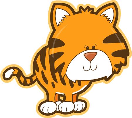 gato caricatura: Tiger ilustraci�n vectorial