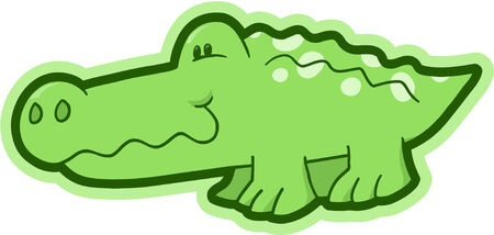 Safari Crocodile Vector Illustration