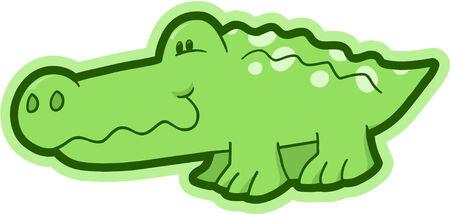 Safari krokodilsysteem Vector Illustratie