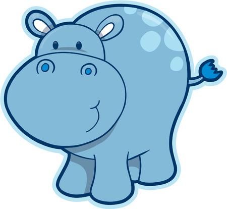 hippopotamus: Hipop�tamo ilustraci�n vectorial