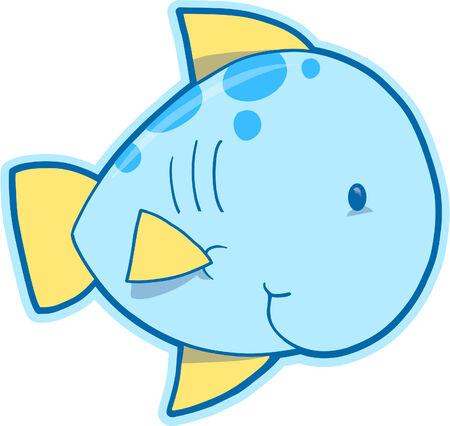 Happy Fish Vector Illustration