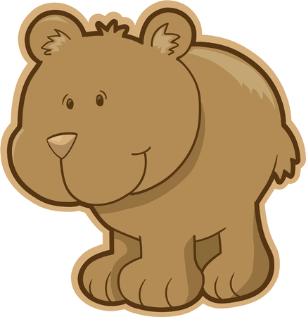 stuffed animals: Bear Vector Illustration